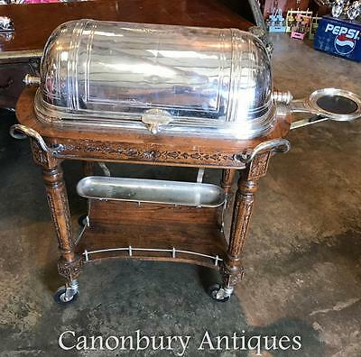 Antique French Silver Plate Christofle Beef Trolley Server Hotel Carvery