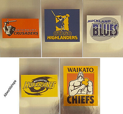 1996 New Zealand Rugby Super 12 Logo Cards (5)