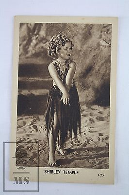 1930's FOX Pictures Image - Shirley Temple Actress Collectible Postcard