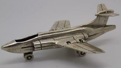 Vintage Solid Silver Supersonic Jet Miniature - Stamped - Made in Italy