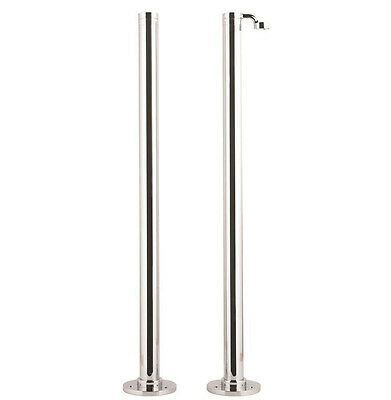 Bathroom Stand Pipes with Handset Holder Freestanding Taps Showers