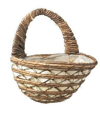 "Gardman Garden Wall Basket, 16"" Mixed Leaf, Lined, For Plant Growing or Storage"