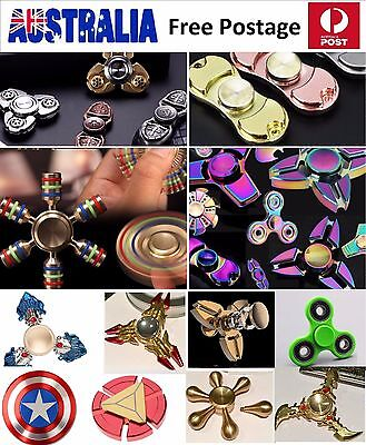 AU 3D Fidget Hand Spinner METAL Finger EDC Focus Stress Reliever Toys Adult Kid