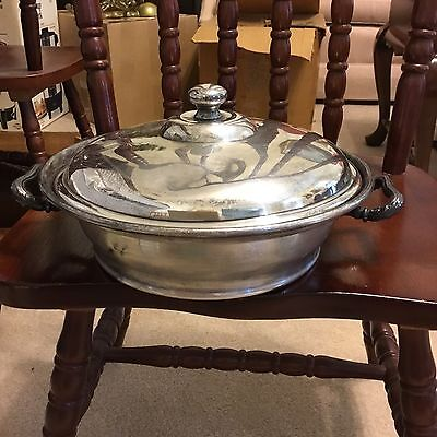 Vintage Middletown Silver Co. Round Silver Covered Lidded Serving Dish