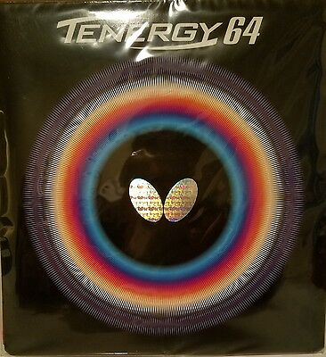 Butterfly Tenergy 64 2.1mm Table Tennis, Ping Pong Rubber BLACK/RED