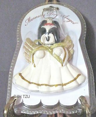 Shih Tzu Dog Christmas Ornament Memory Dog Angel Nib