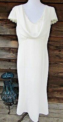 JS Collections Women's Size 12iBeach Wedding White Formal Lined Gown Dress
