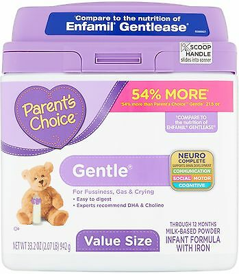 Parent's Choice Gentle Infant Formula With Iron Milk-Based Powder Through 12