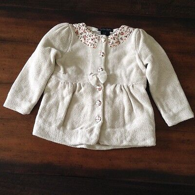 Cynthia Rowley toddler girls 24M cardigan button down long sleeve cotton sweater