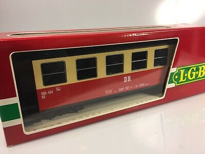 LGB G #3063 RhB Passenger Car (Red) Made In Germany