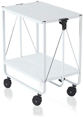 Leifheit Side Car Folding Trolley - White
