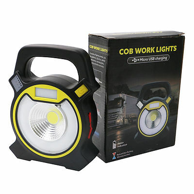 Work Light Portable Outdoor COB LED Floodlight Rechargeable Lamp Light 4 Modes