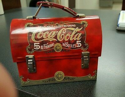 Coca-Cola Miniature lunch box shaped tin