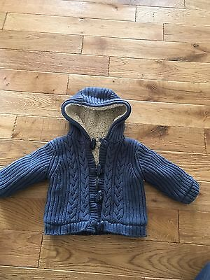 Cable Knit Really Thick Cardigan / Jacket . 3-6 Months Mothercare