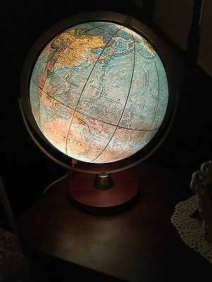 Large Vintage Retro Scan Globe AS Denmark Danish Teak Readers Digest 1969 30cm