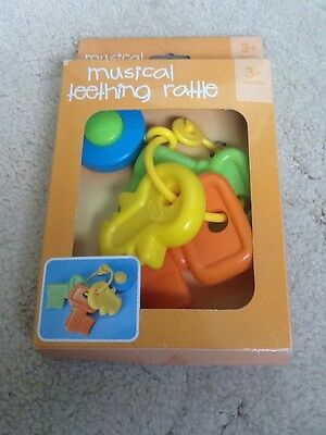 Baby Musical Teething Rattle Bnib