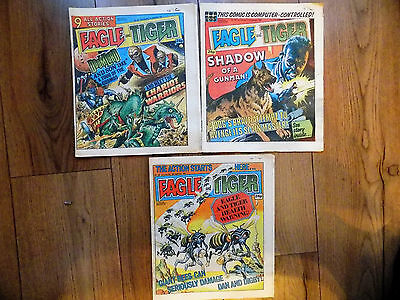 3 x EAGLE & TIGER COMICS  1985 ISSUES 181 - 183