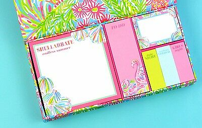 NWT LILLY PULITZER: Sticky Note Set - Lovers Coral