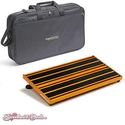 Aclam Guitars Evo Track S2 Orange Pedalboard with Soft Case - Effect Pedal Board