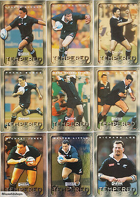 1997 New Zealand All Black Rugby Tempered Steel Cards (9)