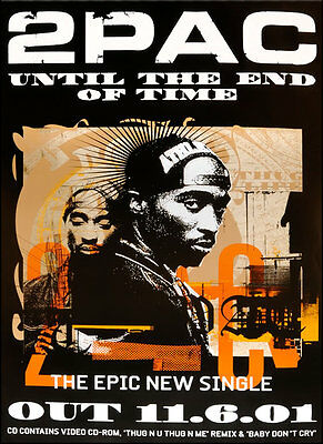 Original 2Pac poster - Until The End of Time