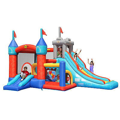 13 in 1 Medievil Knights 16ft Bouncy Castle with Slides & Ball Pool 9021 - Happy