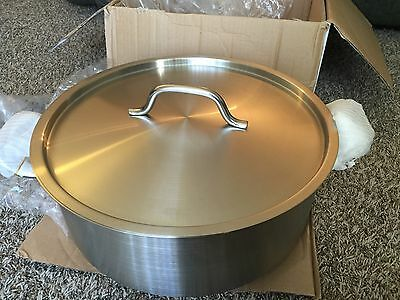 Update International (SBR-15) 15 Qt Induction Ready Stainless Steel Brazier w/ C