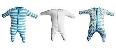 3 pack baby sleep suits - ages 0 to 24 months - free postage & packaging (H:01)