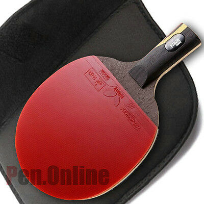 Double Happiness Hurricane Wang Racket Table Ping Pong Paddle Pen Hold Grip