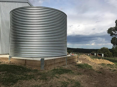 22,500 Litre Round Galvanized Corrugated Iron Water Tank CFA BAL Rating approved