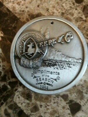 john deere limited edition replica 1994 pewter christmas ornament