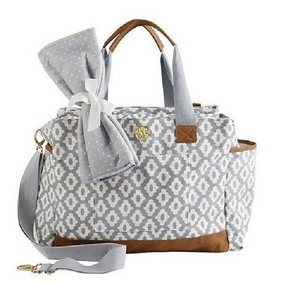 NWT Mud Pie Geo Dot Large Baby Diaper Bag  Infant Boy Girl Unisex Travel Tote