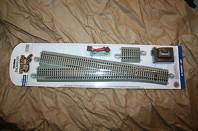 Bachmann HO Scale E-Z Track Nickel Silver Turnout #6 Left Hand BAC-44559