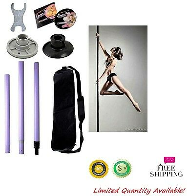 Portable Dance Pole Fitness Dancing Exercise Kit 50mm Strip Show Workout Stage