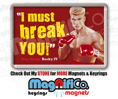Rocky Movie Quotes Fridge Magnet - Sylvester Stallone - Drago - Mr. T - Boxing