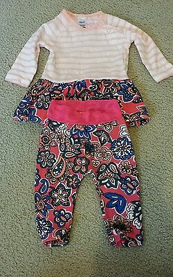 Bonds stretchie floral romper and leggings from 2013 EUC 000