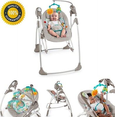 Baby Swing Seat Portable Rocker Infant Chair Newborn Sounds Battery Operated New