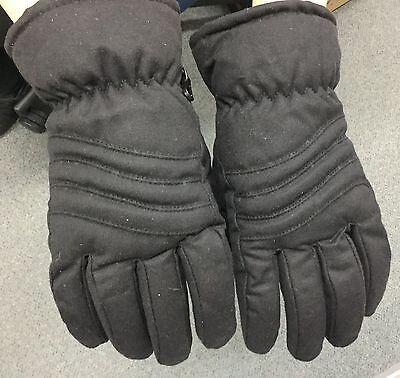 Jacaru oil skin waxy cotton gloves man's size small brown winter