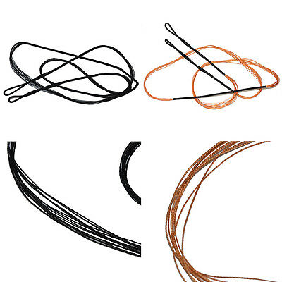For Curved Black Bow String 48-58 inch Handmade Custom Made Bowstrings Black