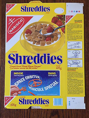 RARE! 1980 Space Orbiter Nabisco Shreddies Cereal Box