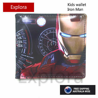 Boys Girls Kids Teenage Biofold PU Leather Wallet-Avengers,Age of Ultron-Ironman