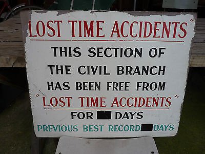 V.R. Lost time injury sign