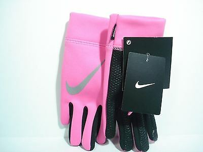Nike  Girls Tech Winter Gloves Size 7/16 Pink Pow Polyester Brand NWT