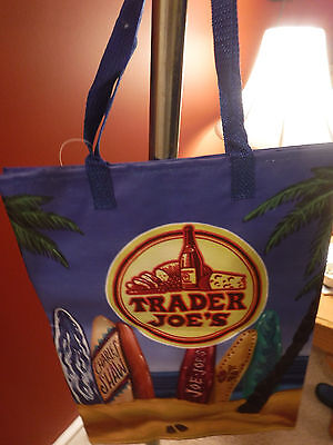 Lot of Two TRADER JOE'S  SURFS UP Reusable Grocery Bag  New with Tags