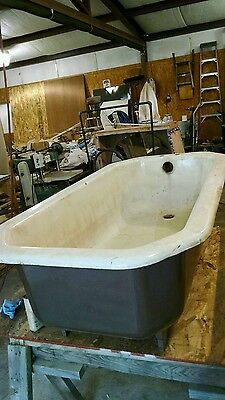 Cast iron vintage footed tub