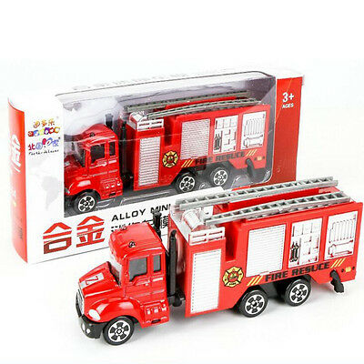 1/64 Kids Children Truck Toy Wheels Can Move Utility Vehicle Fire Truck