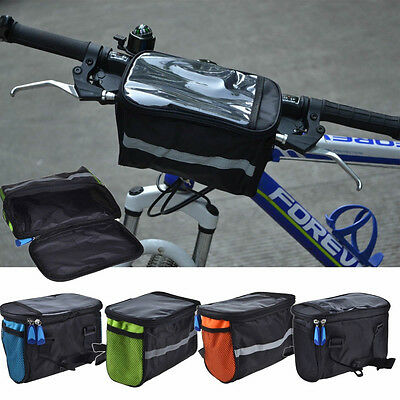 Outdoor Bike Bicycle Cycling Front Basket Pannier Frame Handlebar Bag Pouch