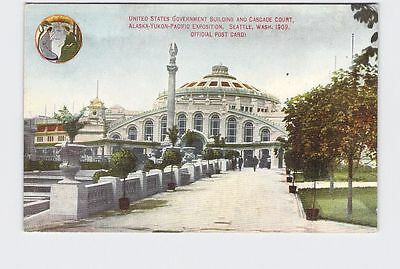 Antique Postcard Exposition Alaska Yukon Pacific 1909 Us Government Building And