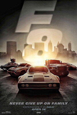 """024 Fast and Furious 8 - Vin Diesel Car Race Ation 2017 Movie 24""""x35"""" Poster"""
