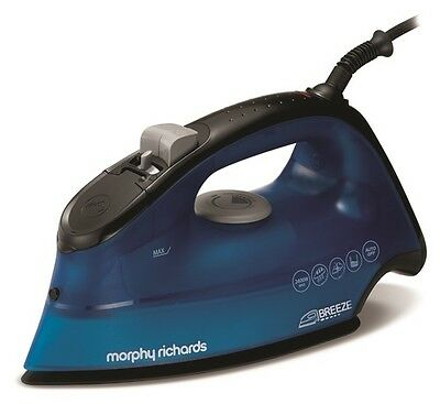 NEW Morphy Richards Breeze Steam Iron Ceramic Soleplate Blue 300262